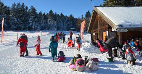 Col Loge_classe ski depart