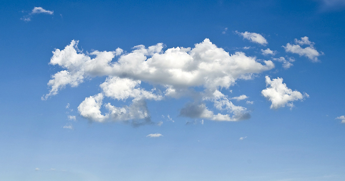 ciel bleu nuage